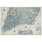 Fototapeta OLD VINTAGE CITY MAP 368 x 254 cm