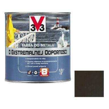 Farba antykorozyjna O EKSTREMALNEJ ODPORNOŚCI 0.5 l Brązowy Połysk V33