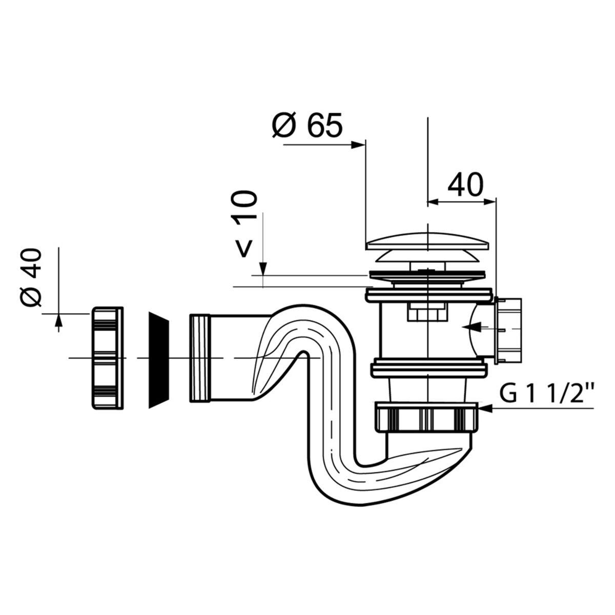 Syfon Brodzikowy 50 Mm Click Clack Wirquin Syfony W Atrakcyjnej Cenie W Sklepach Leroy Merlin