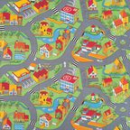 Wykładzina dywanowa LITTLE VILLAGE zielona 3 m