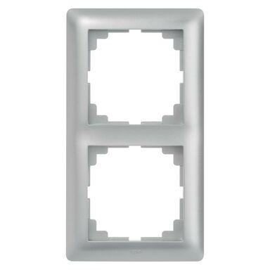 Ramka podwójna ASTORIA  srebrny  ELEKTRO-PLAST