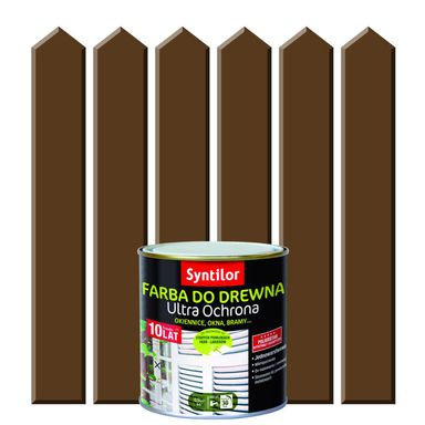 Farba do drewna ULTRA OCHRONA 0.5 l Brązowy SYNTILOR