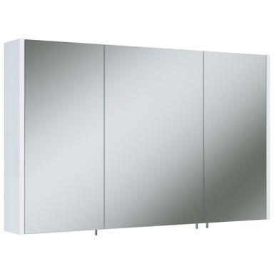 Szafka lustrzana bez oświetlenia TECHNO 100 3D WHITE ELITA