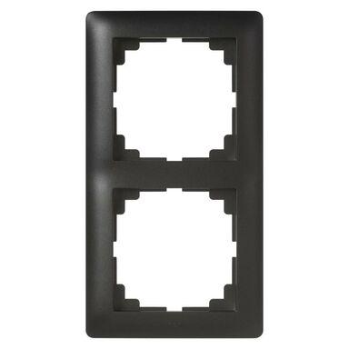 Ramka podwójna ASTORIA  czarny  ELEKTRO-PLAST
