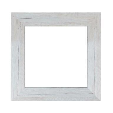 Lustro JYVASKYLA sosna bielona kwadratowe 44 x 44 cm