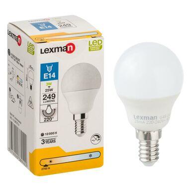Żarówka E14 (230 V) 3 W 249 lm Ciepła biel LEXMAN