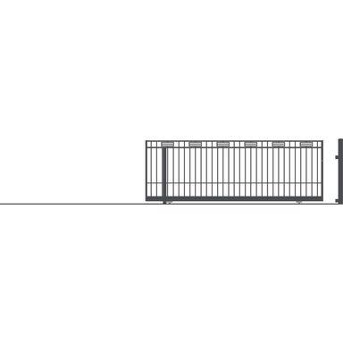 Brama przesuwna bez przeciwwagi ARGOS 2 430 x 152 cm Lewa POLARGOS