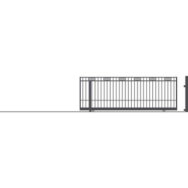 Brama przesuwna bez przeciwwagi ARGOS II 430 x 152 cm lewa POLARGOS