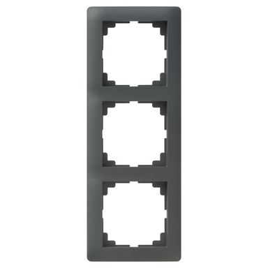 Ramka potrójna ASTORIA  antracyt  ELEKTRO-PLAST