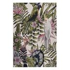 Dywan zewnętrzny w liście Borneo zielono-różowy 120 x 170 cm