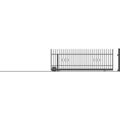 Brama przesuwna bez przeciwwagi z automatem LILA 430 x 152 cm Lewa POLARGOS