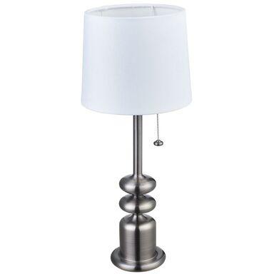 Lampa stołowa TANGER nikiel/biały E27 ORIVA