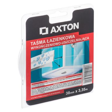 Taśma łazienkowa wykończeniowo-uszczelniająca 38 mm x 3.35 m AXTON