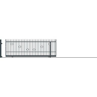 Brama przesuwna bez przeciwwagi RITA II 430 x 152 cm Prawa POLARGOS