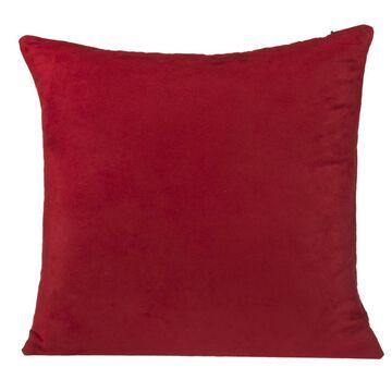 Poduszka SUEDE czerwona 45 x 45 cm INSPIRE
