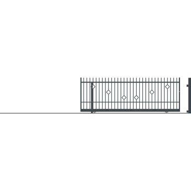 Brama przesuwna bez przeciwwagi RITA II 430 x 152 cm Lewa POLARGOS