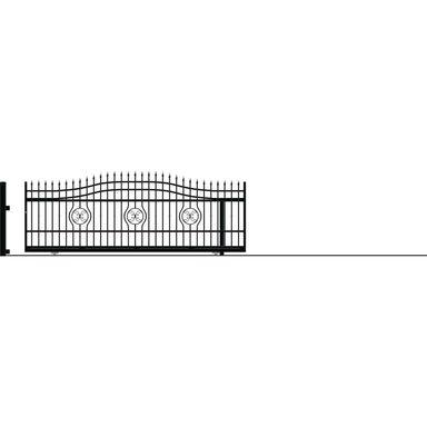 Brama przesuwna bez przeciwwagi MALAGA III 400 x 162 cm prawa POLARGOS