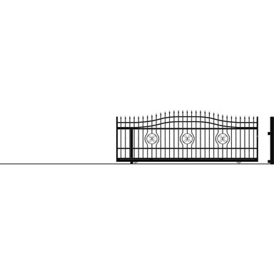 Brama przesuwna bez przeciwwagi MALAGA III 400 x 162 cm Lewa POLARGOS