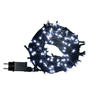 Lampki choinkowe zewnętrzne 14.95 m 200 LED białe zimne z gniazdem
