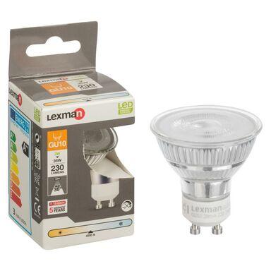Żarówka LED GU10 (230 V) 3 W 230 lm Neutralny LEXMAN