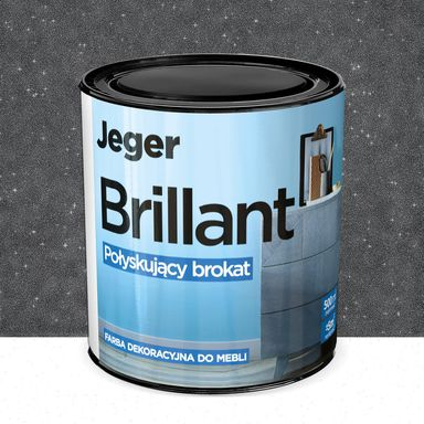 Farba do mebli BRILLANT 0.5 l Ołów Połyskujący brokat JEGER