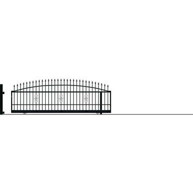 Brama przesuwna bez przeciwwagi PALERMO 400 x 152 cm prawa POLARGOS