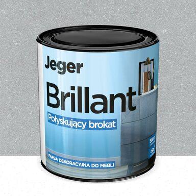 Farba do mebli BRILLANT 0.5 l Srebro Połyskujący brokat JEGER