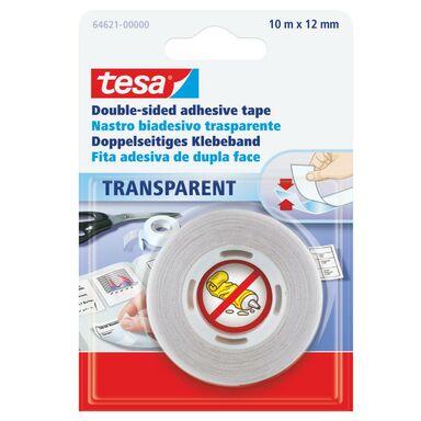 Taśma mocująca dwustronna 10 m x 12 mm transparentna TESA