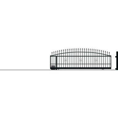 Brama przesuwna bez przeciwwagi z automatem PALERMO 430 x 152 cm lewa POLARGOS