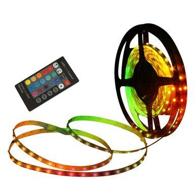 Zestaw taśmy LED z zasilaczem i pilotem RGB NAVE