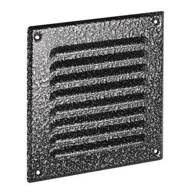 Kratka wentylacyjna stalowa 14 x 14 cm antyk srebrny AWENTA