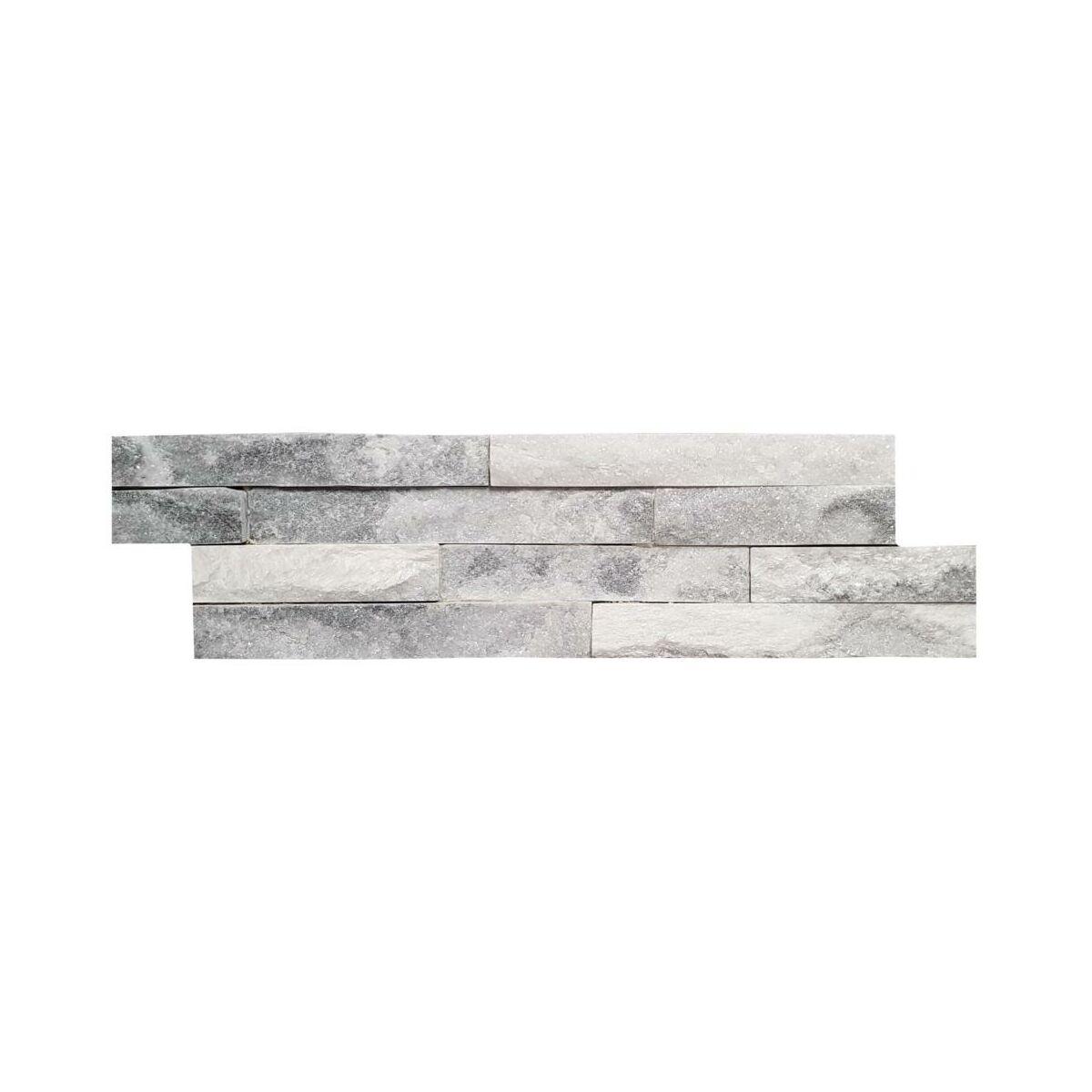Kamien Naturalny Kwarc Bialo Szary 40 X 10 Cm Kamien Elewacyjny I Dekoracyjny W Atrakcyjnej Cenie W Sklepach Leroy Merlin