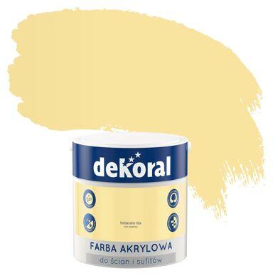 Farba wewnętrzna do ścian i sufitów KOLORY, KTÓRE INSPIRUJĄ 2.5 l Herbaciana róża DEKORAL