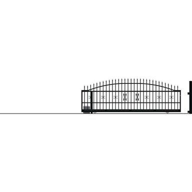 Brama przesuwna bez przeciwwagi z automatem ELIZA III 400 x 152 cm Lewa POLARGOS