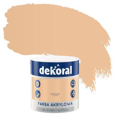 Farba wewnętrzna do ścian i sufitów KOLORY, KTÓRE INSPIRUJĄ 2.5 l Kremowy mango DEKORAL
