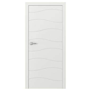Skrzydło drzwiowe pełne bezprzylgowe VECTOR X Białe 80 Prawe PORTA