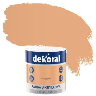 Farba wewnętrzna do ścian i sufitów KOLORY, KTÓRE INSPIRUJĄ 2.5 l Mus brzoskwiniowy DEKORAL