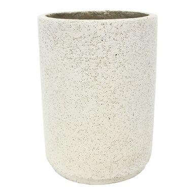 Doniczka betonowa 28 cm biała MBS CYLINDER CERMAX
