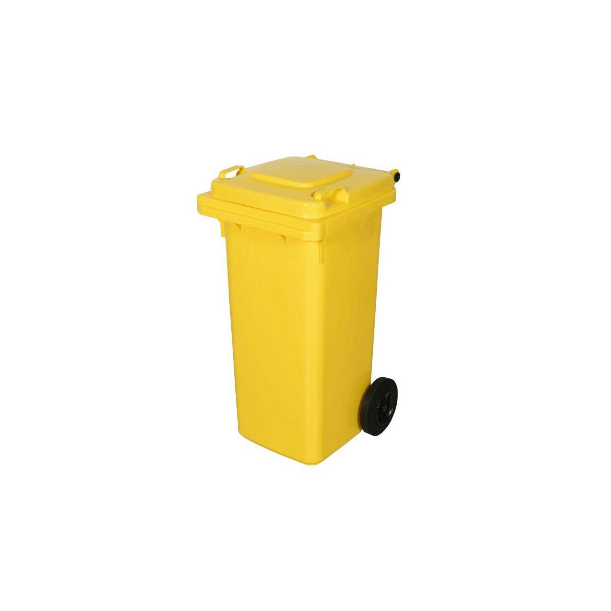 Kosz Na Smieci 120 L Zolty Na Odpady Plastikowe I Metalowe Kosze Na Smieci Pojemniki Na Odpady W Atrakcyjnej Cenie W Sklepach Leroy Merlin