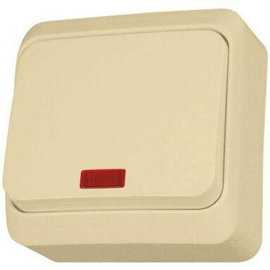 Włącznik pojedynczy z podświetleniem PRIMA  Beżowy  SCHNEIDER ELECTRIC