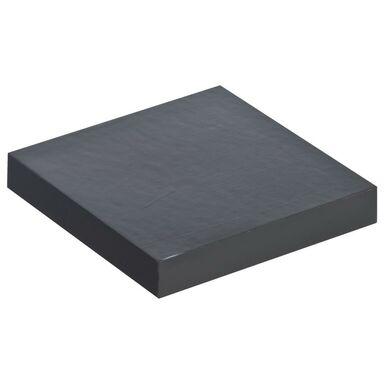 Półka ścienna KOMOROWA Czarny połysk 23,5 x 23,5 cm SPACEO