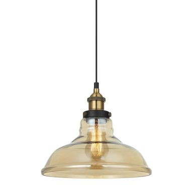 Lampa wisząca HUBERT czarno-złota E27 ITALUX