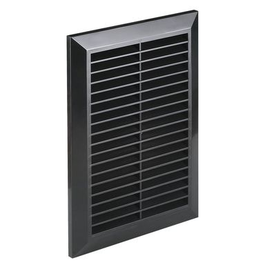 Kratka wentylacyjna 14 x 21 cm czarna AWENTA