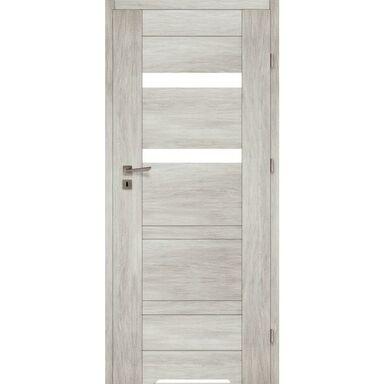 Skrzydło drzwiowe z podcięciem wentylacyjnym Parma Dąb silver 90 Prawe Voster