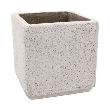 Doniczka betonowa 37 x 37 cm biała MBS KWADRAT CERMAX