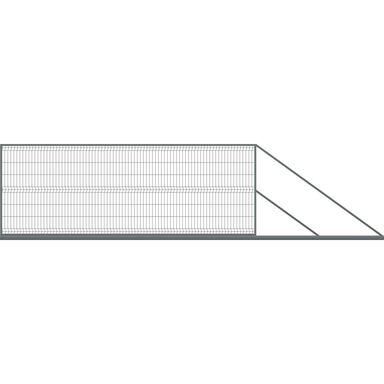 Brama przesuwna 400 x 150 cm prawa STARK POLBRAM