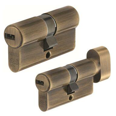 Zestaw wkładek drzwiowych podłużnych na jeden klucz D10+KD10 AB 30/30G 30 x 30mm ABUS