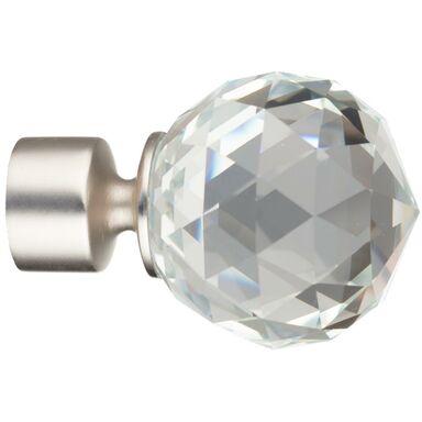 Końcówka do karnisza Crystal chrom mat 25 mm Inspire