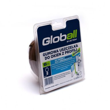 Uszczelka do okien z profili PCV i drewnianych 6 m brązowa gumowa GLOBALL