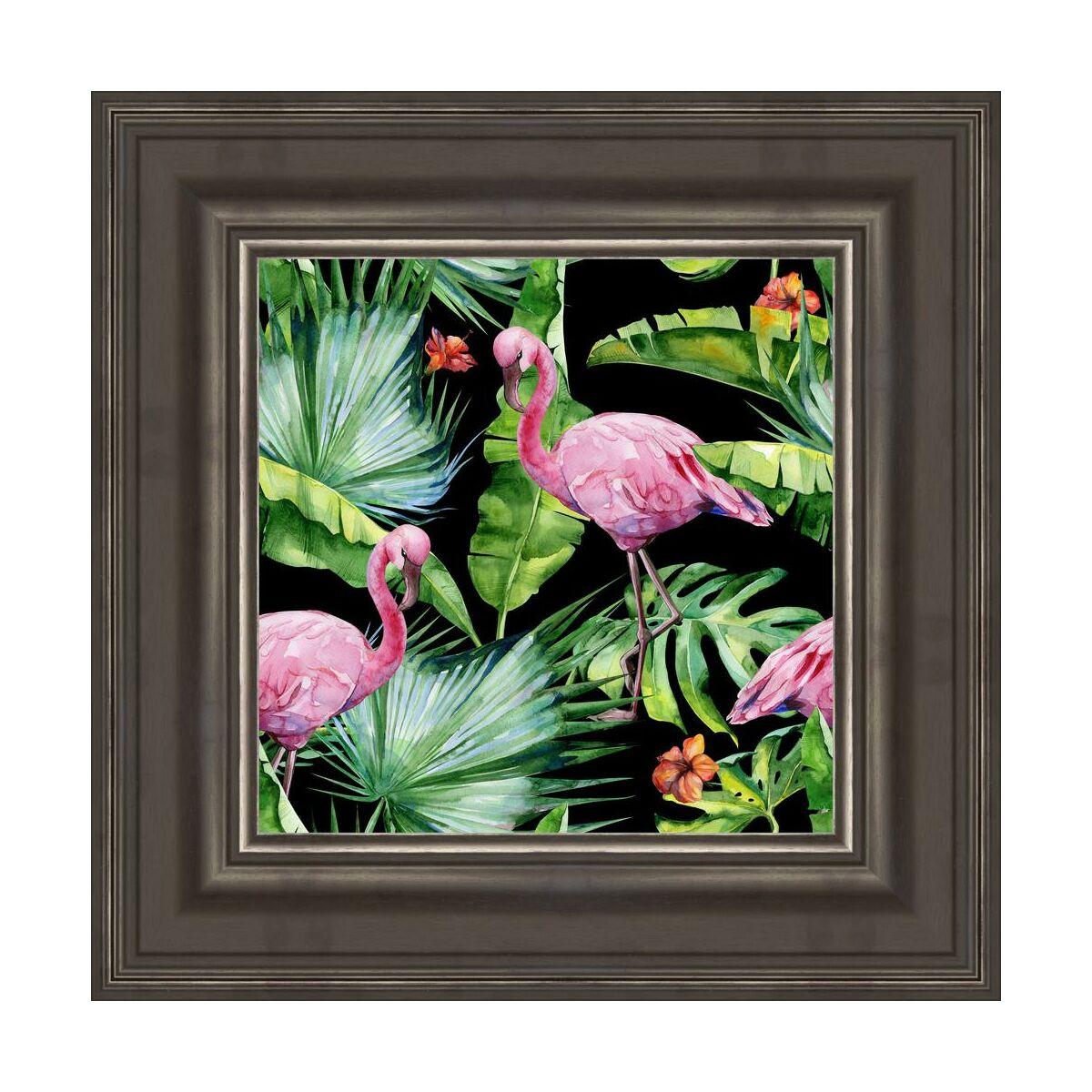Obraz Flamingi I Liście 476 X 476 Cm Obrazy Kanwy W